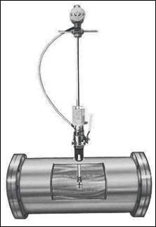 Insertion liquid turbine flowmeters