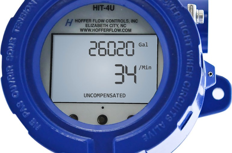 Flow Rate Indicator, Dual Totalizers