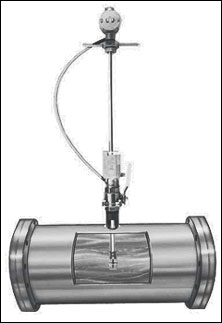Insertion liquid turbine flowmeters